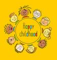 internation children template vector image
