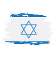 isolated israeli flag vector image vector image
