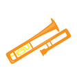 isolated trombone icon musical instrument vector image vector image