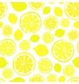 lemons background painted pattern vector image