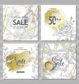 modern geometric social media banners with golden vector image vector image