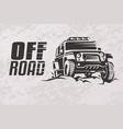 off road car stylized symbol offroader logo vector image vector image