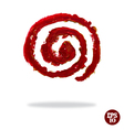 Oil painted spiral icon vector image vector image
