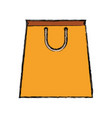 paper bag yellow vector image vector image