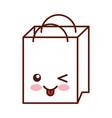 paper shopping bag kawaii character vector image vector image