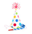 party cap and whistle vector image vector image