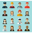 Professions Flat Icons Signs symbols set vector image vector image