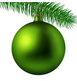realistic lime matte christmas ball or bauble with vector image vector image