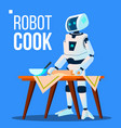 robot cook cooking food isolated vector image vector image
