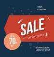 sale special offer up to 70 off template design vector image vector image