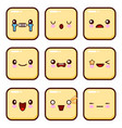 set of emoticons set of emoji isolated on white vector image vector image