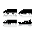 Set of transport icons - Freight transport vector image