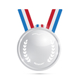 Silver Medal Award Isolated on White Background vector image