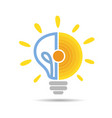 solar energy logo icon vector image vector image