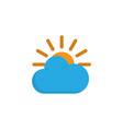 sun flat icon symbol premium quality isolated vector image
