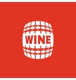 The wine icon Cask and keg alcohol wine symbol vector image vector image