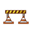 traffic fence with cones vector image