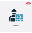 two color builder icon from people skills concept vector image vector image