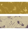 Two ink blots banner vector image