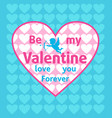 valentines day background card blue vector image