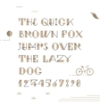 Vintage hipster geometric font vector image vector image