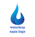 water drop logo design 3d template infinite aqua vector image