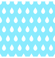 White Rain Blue Background vector image vector image