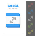 simple line stroked two barbell icon vector image