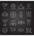Award icons set outline vector image