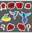 Birds and roses vector image vector image