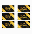 black friday gift card set the cards cost in 25 vector image vector image