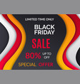black friday sale up 80 percent off special offer vector image vector image