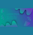 bright blue background with fluid abstract shapes vector image vector image