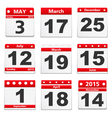 Calendar Pages vector image vector image