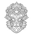 carnival mask coloring vector image vector image