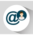 character mail social media concept vector image vector image