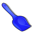 children plastic blue shovel for snow isolated on vector image vector image
