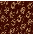 Chocolate doodle seamless pattern like lace vector image vector image