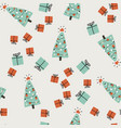 christmas hand drawn background simple vector image vector image