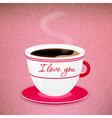 Coffee Valentine cup vector image