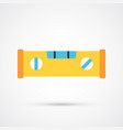 colored spirit level trendy symbol vector image vector image