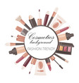 cosmetics background banner fashion trendy vector image