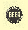 craft beer text emblem on bottle cap vector image vector image