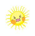 cute cry sun vector image vector image