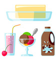 dairy milk products organic drink bottle healthy vector image vector image
