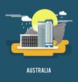 darwin northern territory historic city australia vector image