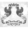 decorative frame with crown and griffin vector image