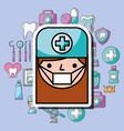 dentist girl cartoon dental care professional vector image