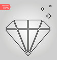 diamond flat icon single high quality outline vector image