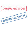 disfunction textile stamps vector image vector image
